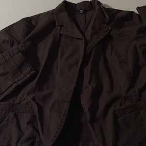 Chocolate mossimo stretch jacket xl light weight